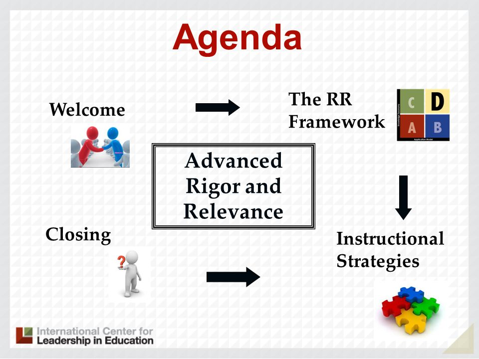 Digging Deeper into the R &R Framework The Collaborative Instructional Review Process Instructional Strategies Comparison of Frameworks