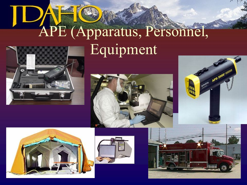 APE (Apparatus, Personnel, Equipment