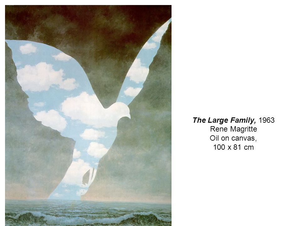 The Large Family, 1963 Rene Magritte Oil on canvas, 100 x 81 cm