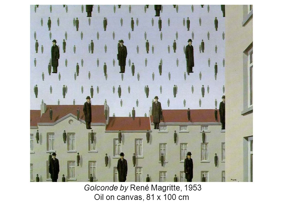 Golconde by René Magritte, 1953 Oil on canvas, 81 x 100 cm