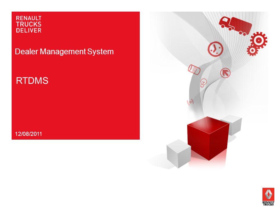Dealer Management System RTDMS 12/08/2011