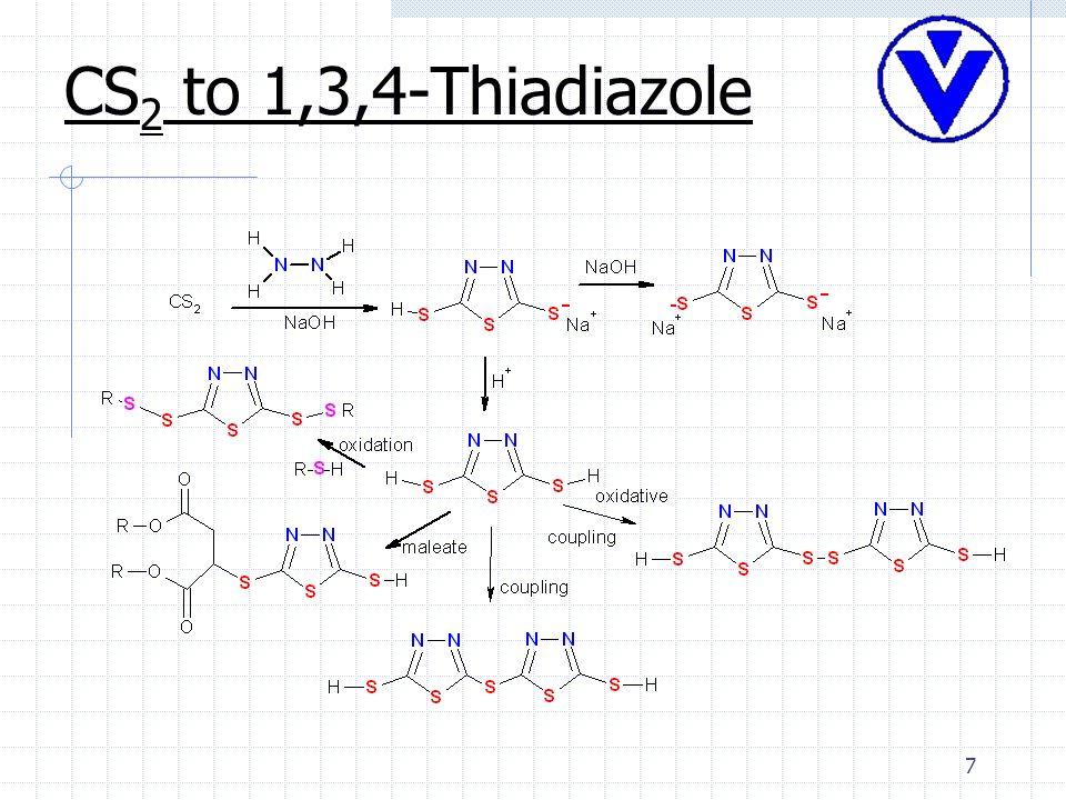 7 CS 2 to 1,3,4-Thiadiazole