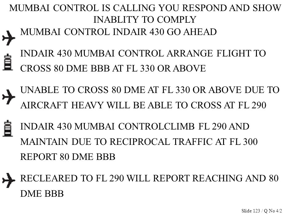 MUMBAI CONTROL IS CALLING YOU RESPOND AND SHOW INABLITY TO COMPLY MUMBAI CONTROL INDAIR 430 GO AHEAD INDAIR 430 MUMBAI CONTROL ARRANGE FLIGHT TO CROSS