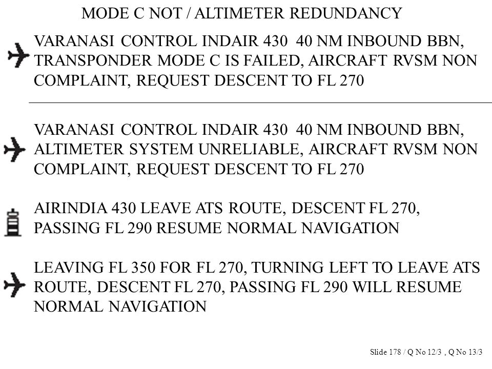 MODE C NOT / ALTIMETER REDUNDANCY VARANASI CONTROL INDAIR 430 40 NM INBOUND BBN, TRANSPONDER MODE C IS FAILED, AIRCRAFT RVSM NON COMPLAINT, REQUEST DE