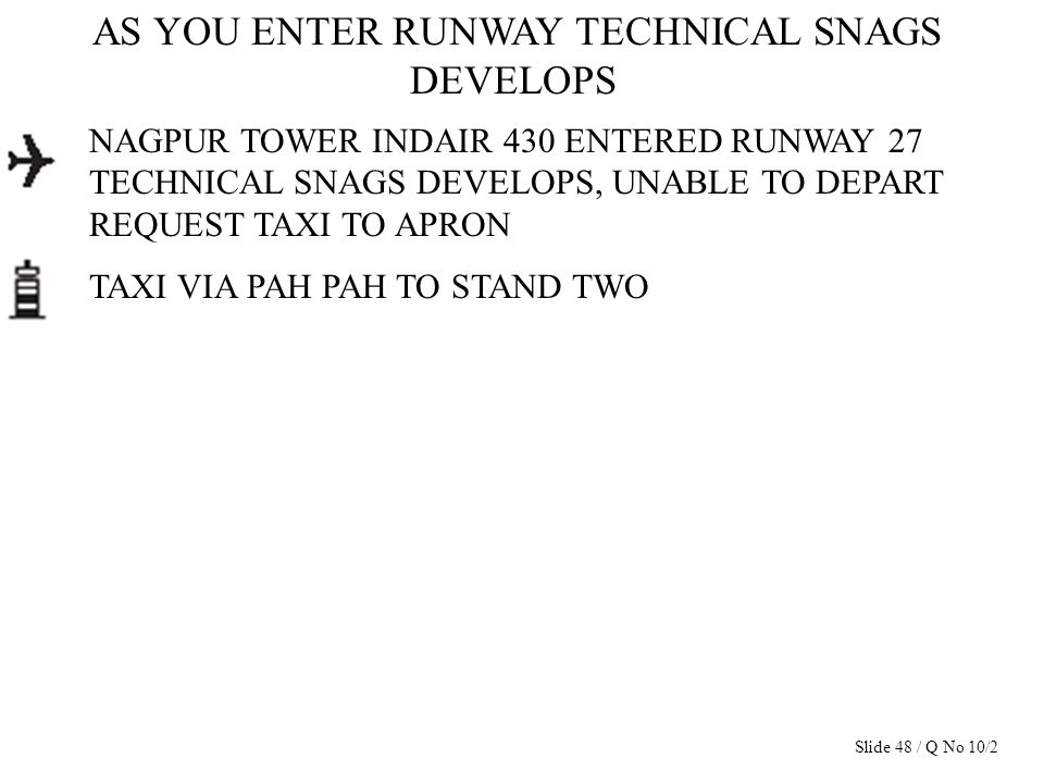 AS YOU ENTER RUNWAY TECHNICAL SNAGS DEVELOPS NAGPUR TOWER INDAIR 430 ENTERED RUNWAY 27 TECHNICAL SNAGS DEVELOPS, UNABLE TO DEPART REQUEST TAXI TO APRO