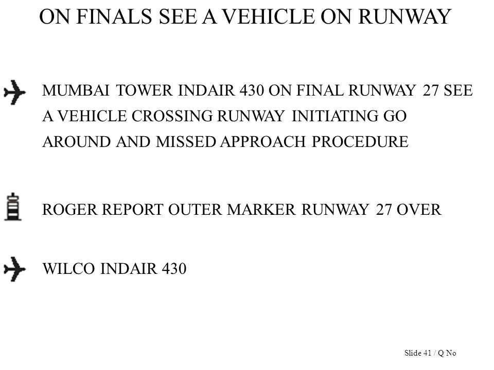 ON FINALS SEE A VEHICLE ON RUNWAY MUMBAI TOWER INDAIR 430 ON FINAL RUNWAY 27 SEE A VEHICLE CROSSING RUNWAY INITIATING GO AROUND AND MISSED APPROACH PR