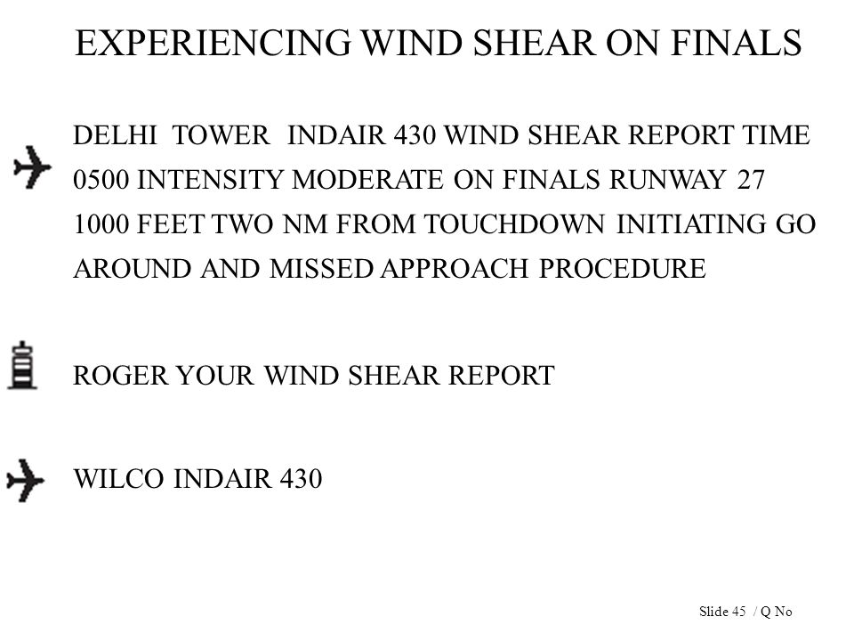 EXPERIENCING WIND SHEAR ON FINALS DELHI TOWER INDAIR 430 WIND SHEAR REPORT TIME 0500 INTENSITY MODERATE ON FINALS RUNWAY 27 1000 FEET TWO NM FROM TOUC