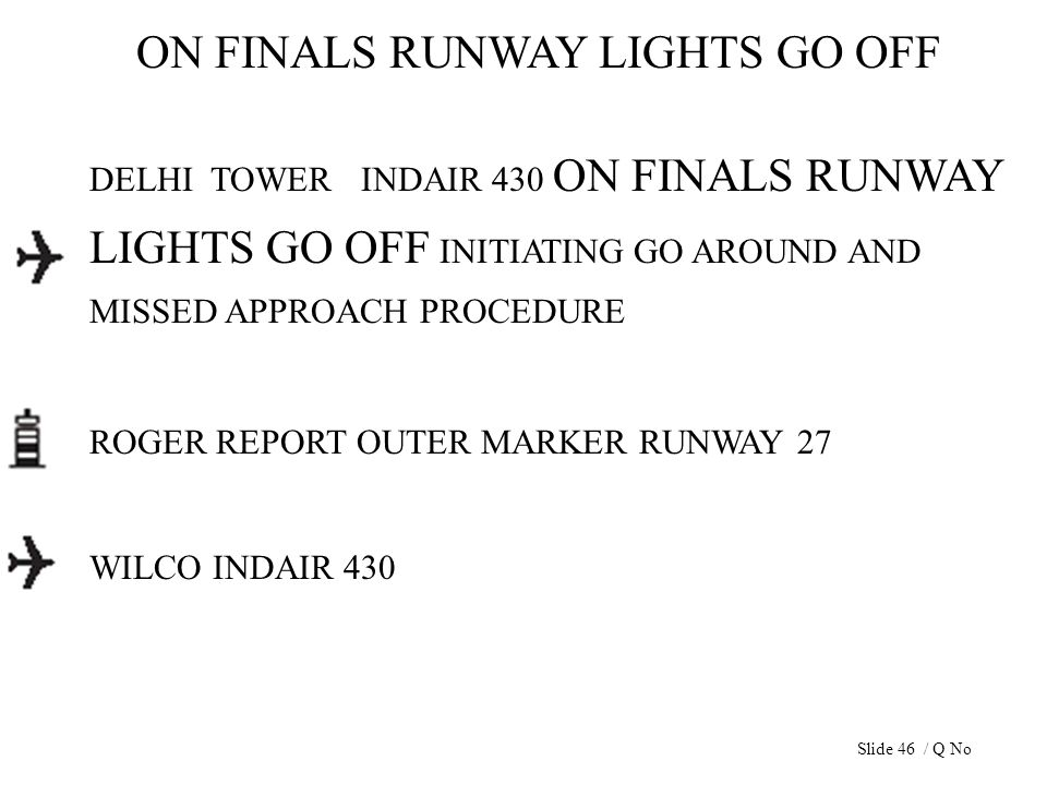 ON FINALS RUNWAY LIGHTS GO OFF DELHI TOWER INDAIR 430 ON FINALS RUNWAY LIGHTS GO OFF INITIATING GO AROUND AND MISSED APPROACH PROCEDURE ROGER REPORT O