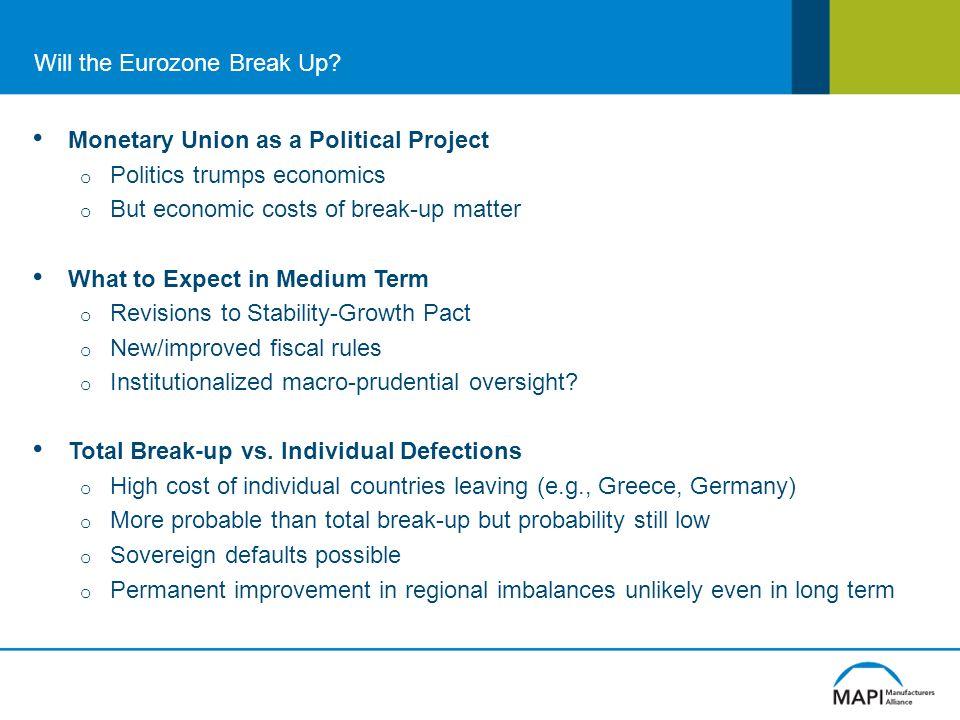 Will the Eurozone Break Up.