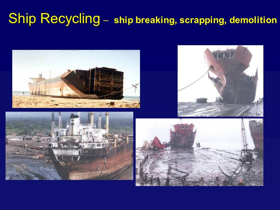 Ship Recycling Ship Recycling – ship breaking, scrapping, demolition