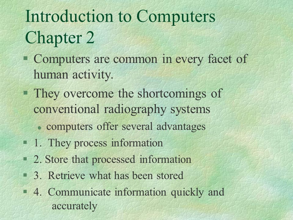 §Define computer… §A machine for solving problems.