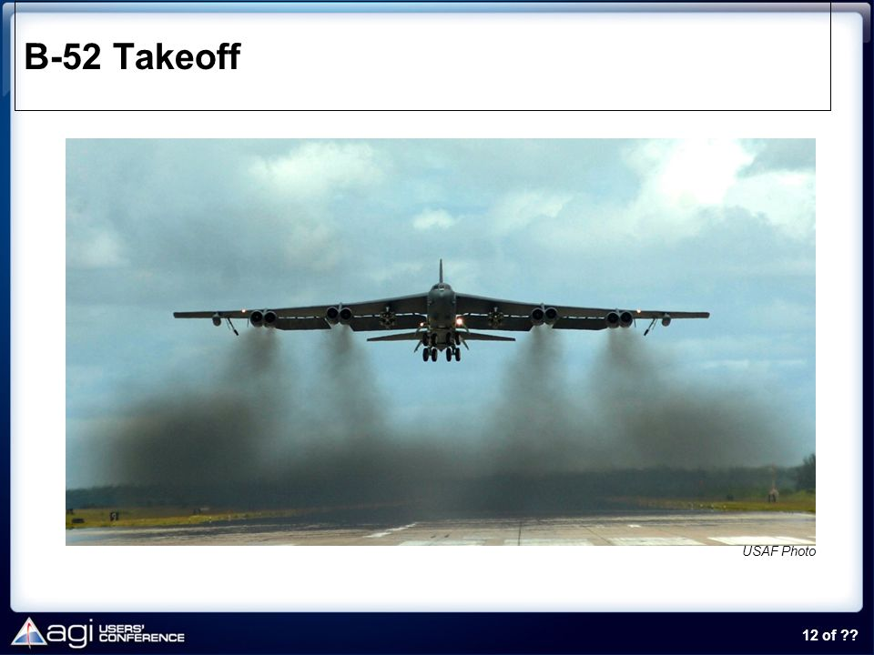 12 of ?? B-52 Takeoff USAF Photo