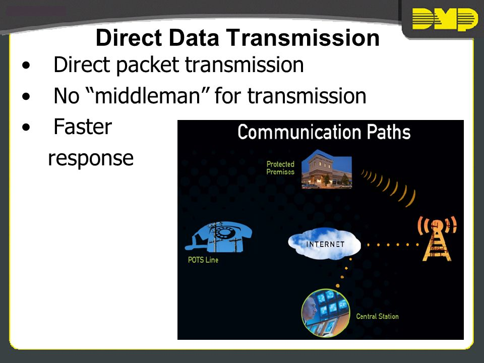 Direct Data Transmission Direct packet transmission No middleman for transmission Faster response