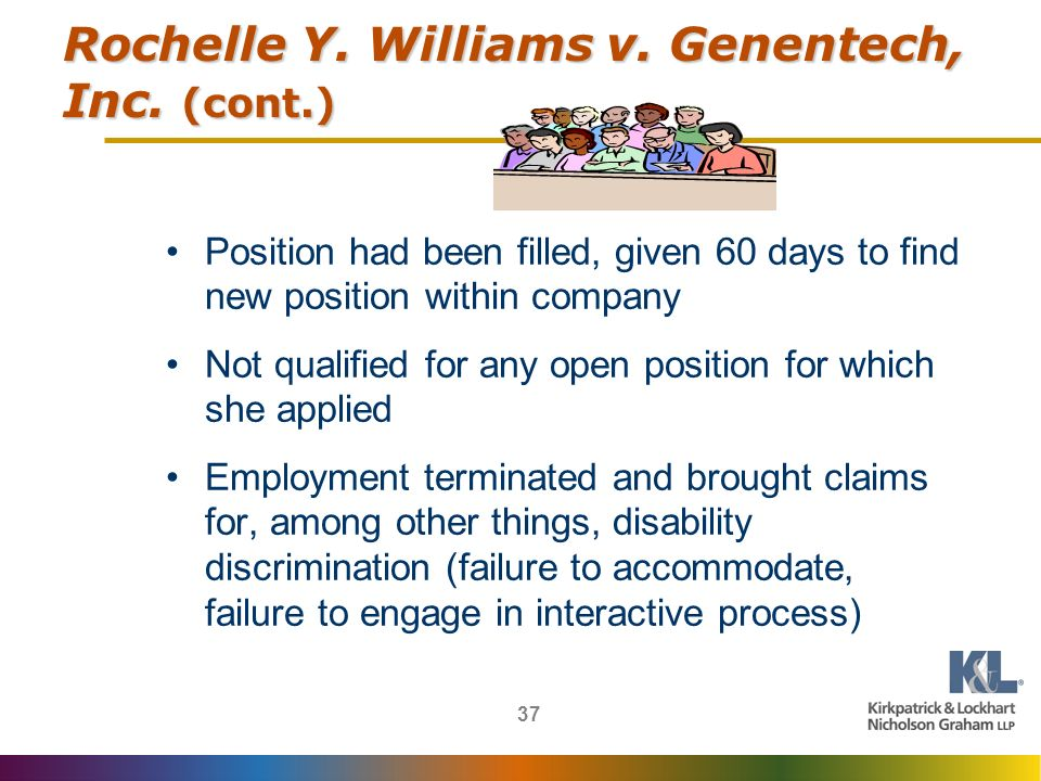 37 Rochelle Y. Williams v. Genentech, Inc.