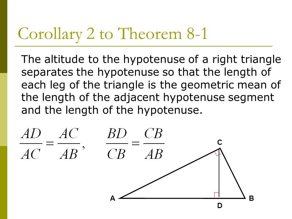 altitudes of right triangle