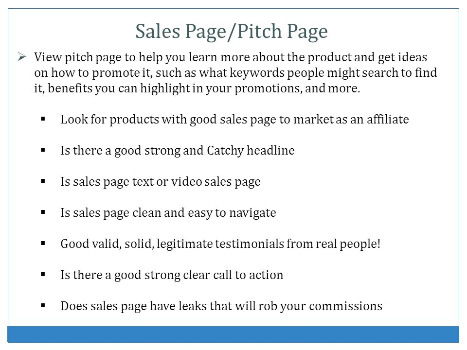 View pitch page to help you learn more about the product and get ideas on how to promote it, such as what keywords people might search to find it, benefits you can highlight in your promotions, and more.