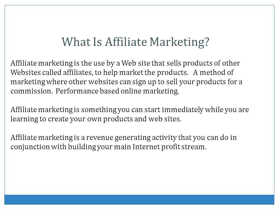 Why You Should Participate In Affiliate Marketing A win-win scenario.