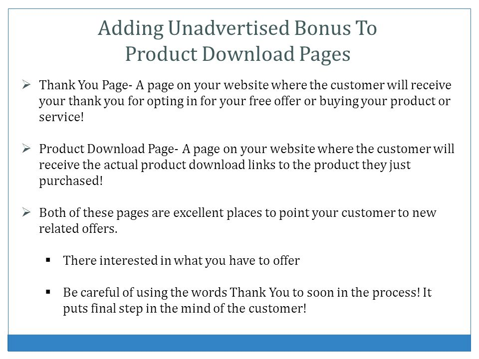Thank You Page- A page on your website where the customer will receive your thank you for opting in for your free offer or buying your product or serv