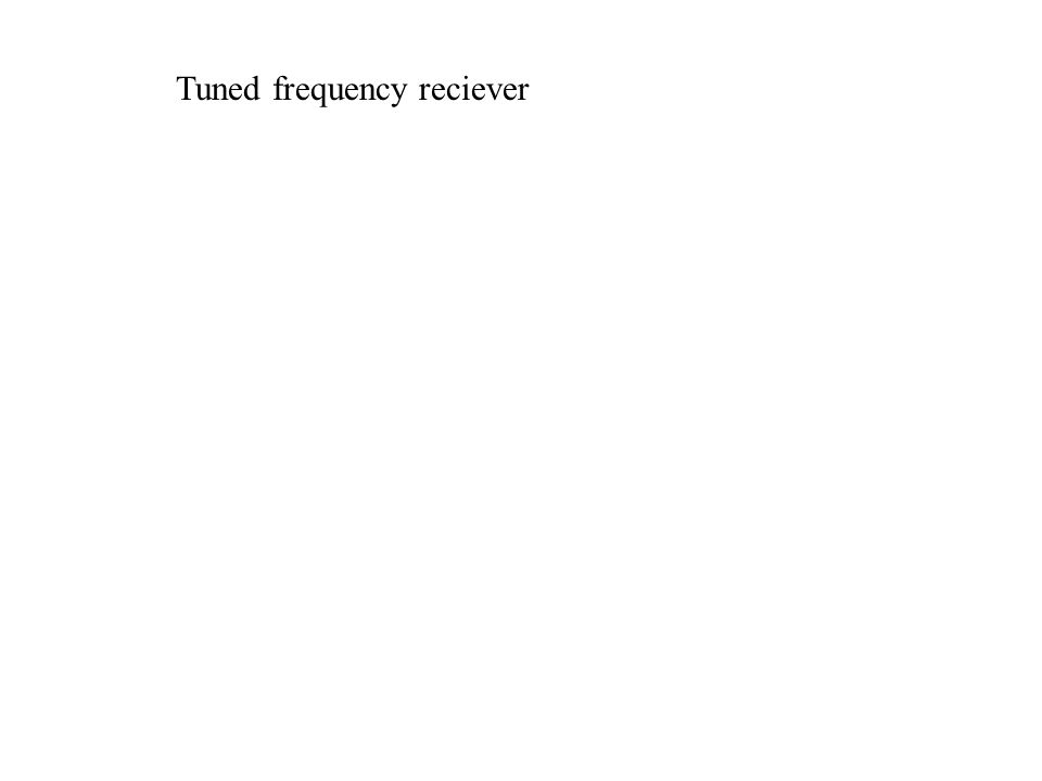 Tuned frequency reciever