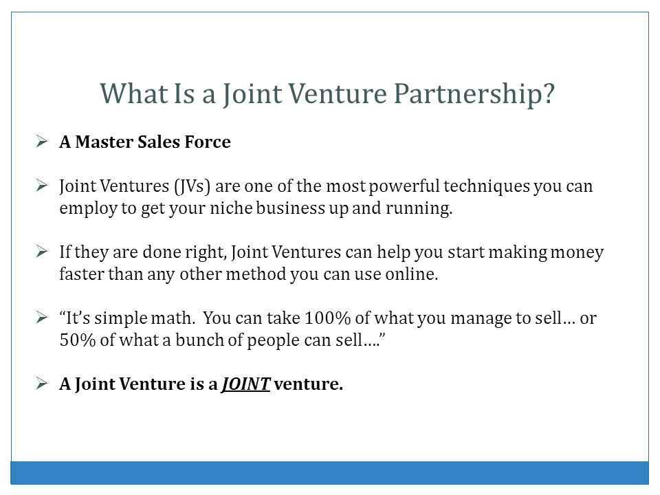 What Is a Joint Venture Partnership.