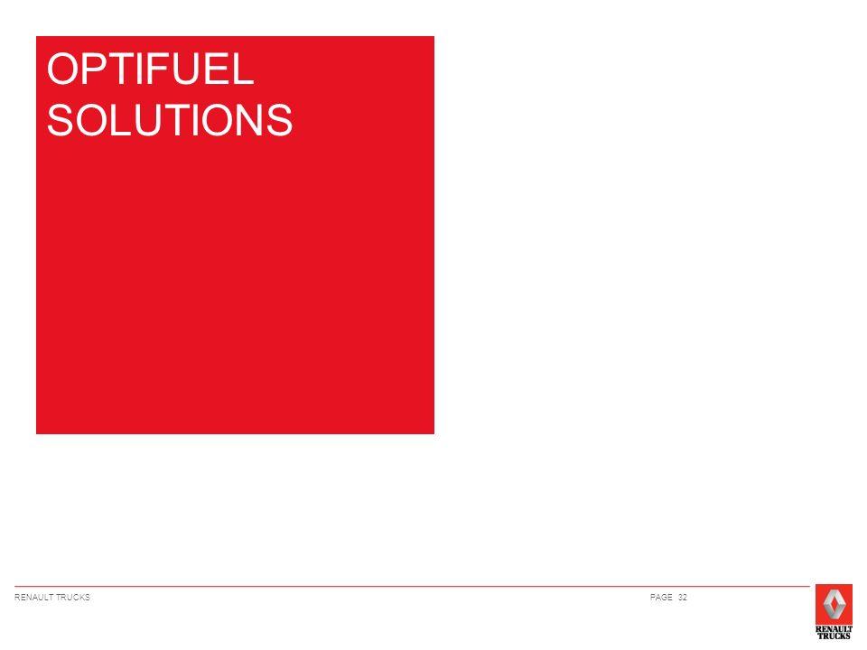 RENAULT TRUCKSPAGE 32 OPTIFUEL SOLUTIONS