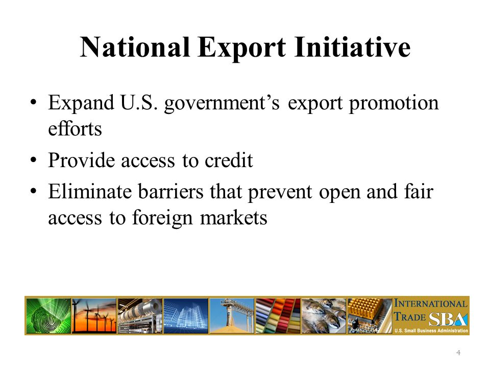 National Export Initiative Expand U.S.