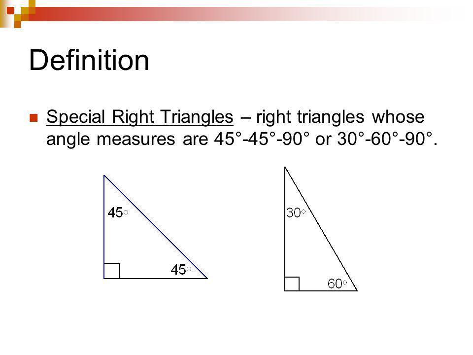 45°-45°-90° Triangle Theorem