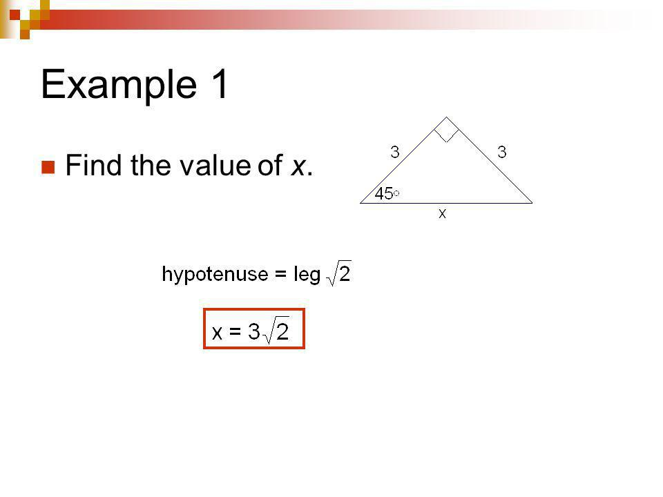 You Try! Find the value of x.