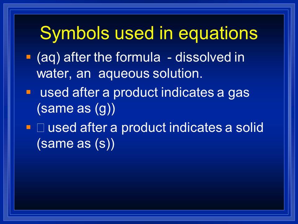 Examples Na + H 2 O H 2 + NaOH