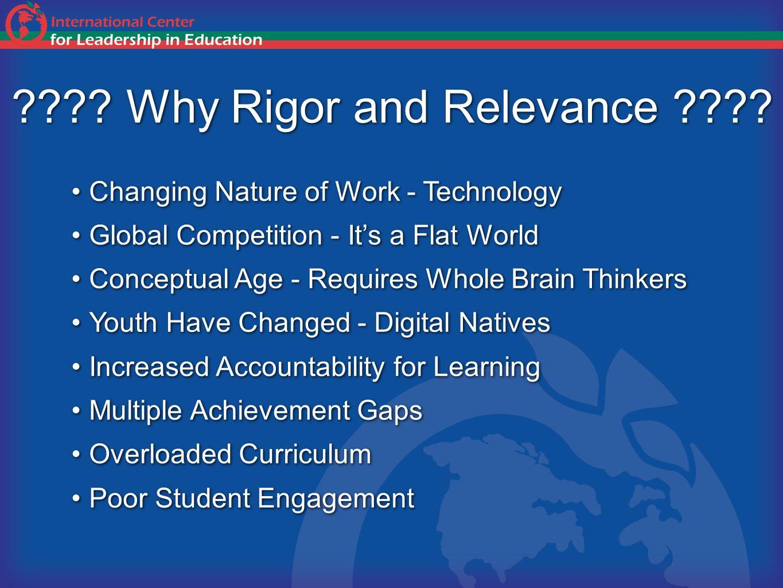 4 Quantify Rigor and Relevance
