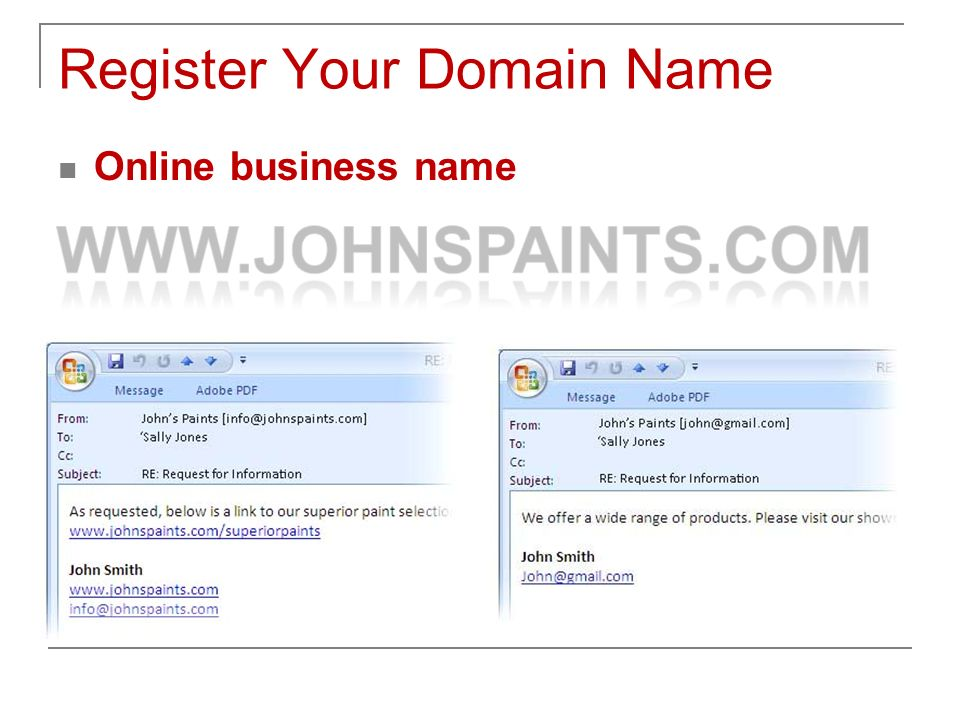 Register Your Domain Name Online business name