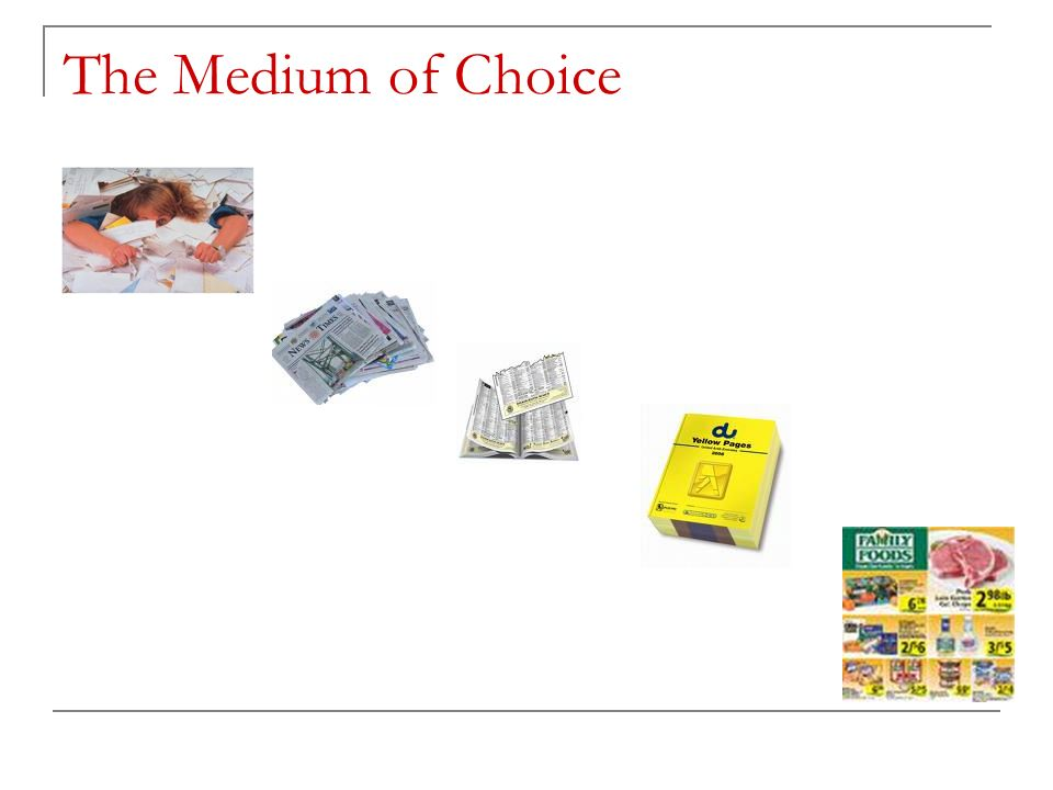 The Medium of Choice