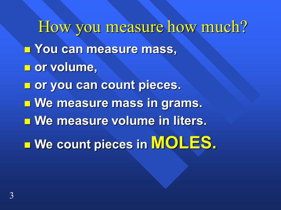 4 Moles n 1 mole is 6.02 x 10 23 particles.n Particles can be atoms, molecules, formula units.