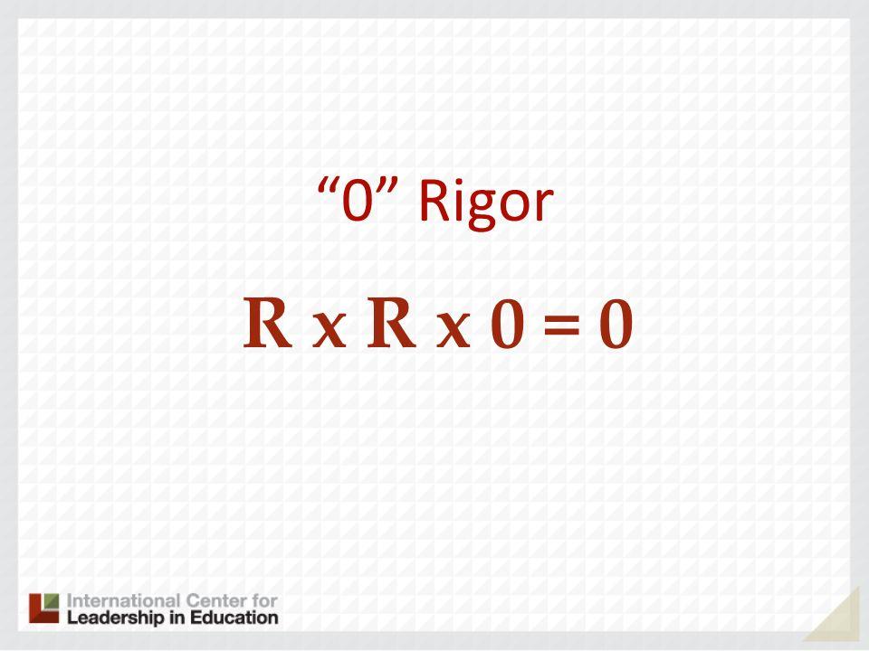 0 Rigor R x R x 0 = 0
