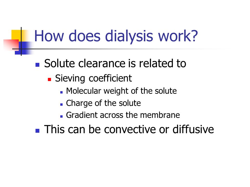 How does dialysis work.