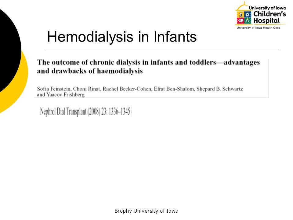 Brophy University of Iowa Hemodialysis in Infants