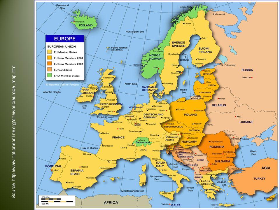Source : http://www.nationsonline.org/oneworld/europe_map.htm