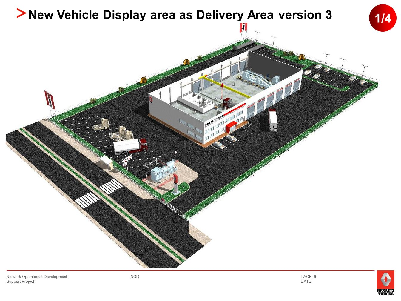 NOD Network Operational Development Support Project PAGE 7 DATE 2/4 New Vehicle Display area as Delivery Area version 3