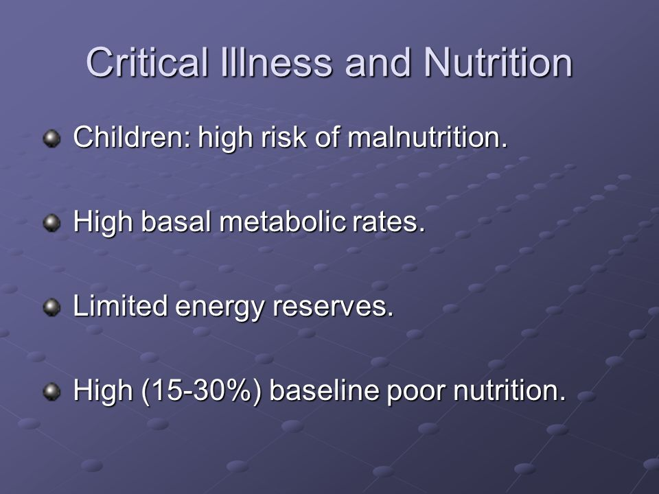 Critical Illness - Vitamins Water Soluble Vit B 1 Def Altered Energy Metabolism, Lactic Acid, Tubular damage Lactic Acid, Tubular damage Vit B 6 Def Altered Amino acid and lipid metabolism metabolism Folate Def Anemia Folate Def Anemia Vit C Def Limit 200 mg/d as precursor to Oxalic acid Oxalic acid Potential for losses during CRRT.