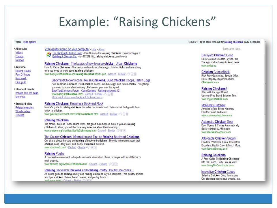 Example: Raising Chickens