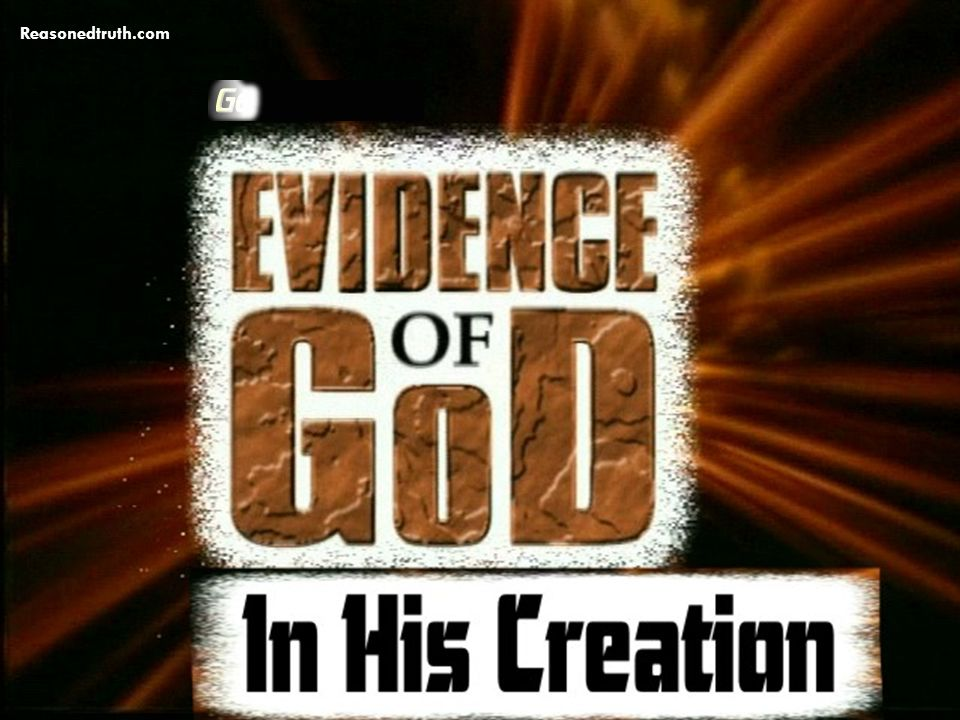 Evidence of God In His Creation Genesis 1:1-5 www.reasonedtruth.com Reasonedtruth.com
