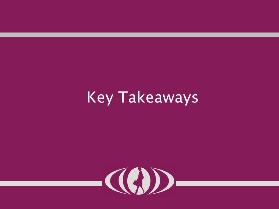 38 Key Takeaways