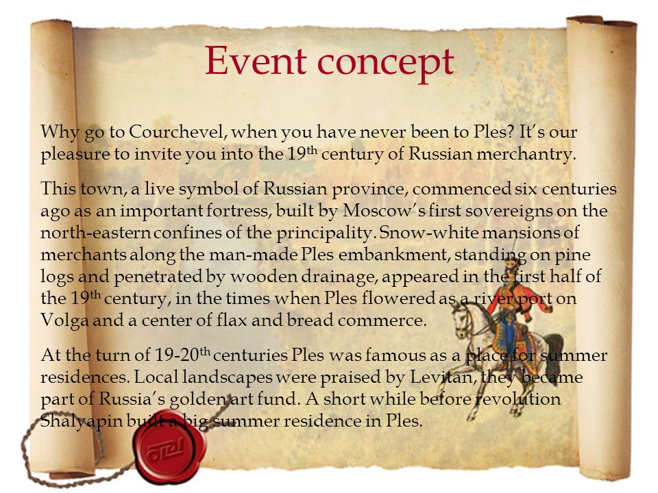 Event concept Why go to Courchevel, when you have never been to Ples.
