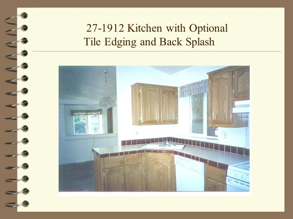 27-1912 Kitchen with Optional Tile Edging and Back Splash