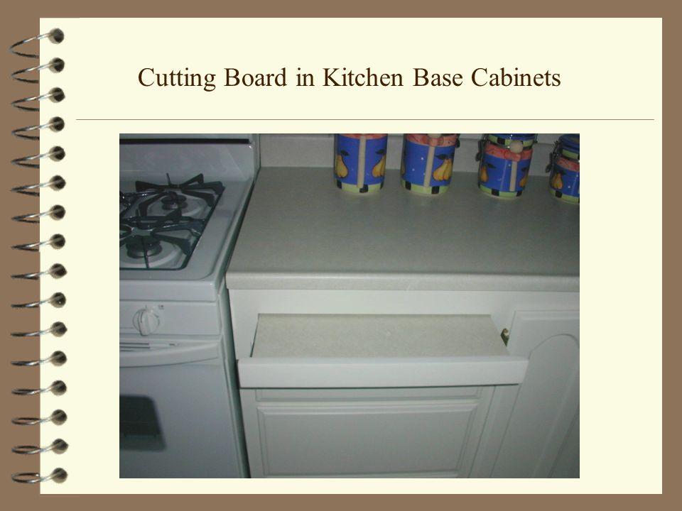 Cutting Board in Kitchen Base Cabinets