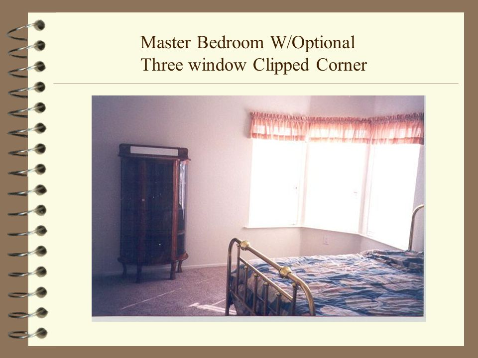 Master Bedroom W/Optional Three window Clipped Corner