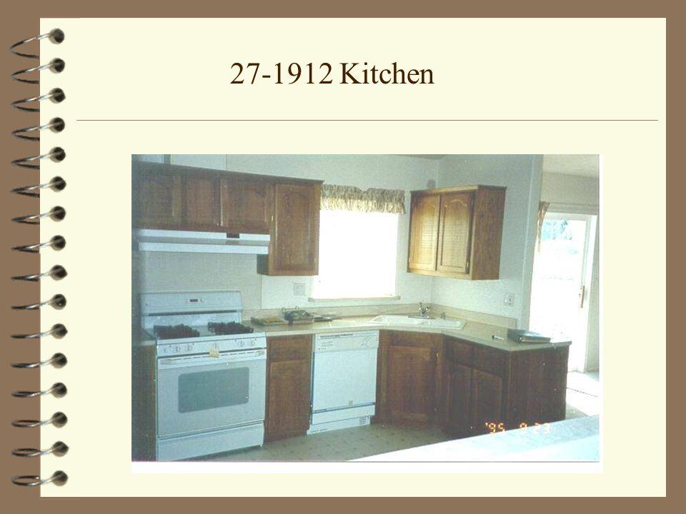 27-1912 Kitchen with Optional Tile Edging and Back Splash