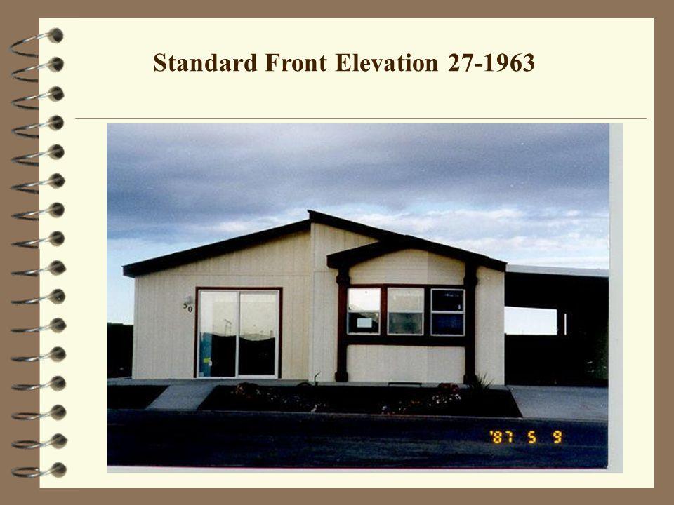 Standard Front Elevation 27-1963