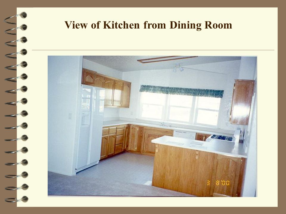 View of Kitchen from Dining Room