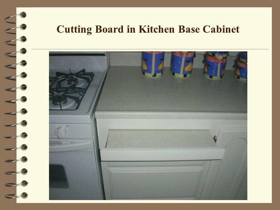 Cutting Board in Kitchen Base Cabinet
